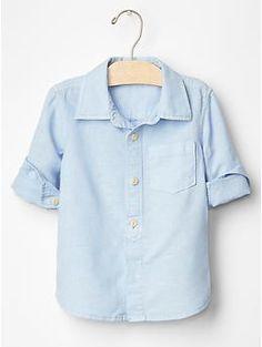 Linen-cotton shirt   Gap