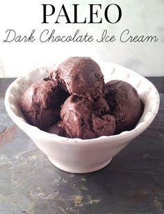 Paleo Dark Chocolate Coconut Ice Cream Recipe - Dairy Free & Refined Sugar Free!