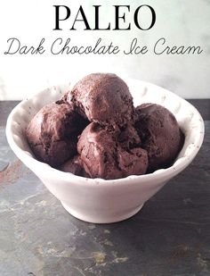 Paleo Dark Chocolate Coconut Ice Cream Recipe - Dairy Free & Refined Sugar Free!