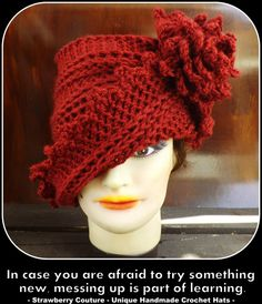 Crochet Hat Pattern  Cloche Hat Pattern for by strawberrycouture, $5.00