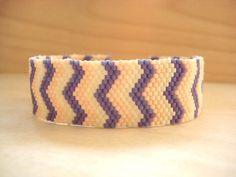 Beaded chevron bracelet #DIY #bracelet