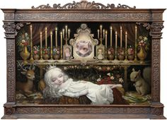 Mark Ryden born January 20 1963 is an American painter part of the Lowbrow or Pop Surrealist art movement He was dubbed the godfather of pop surreali Mark Ryden, Arte Lowbrow, Art Pop, Art And Illustration, Portrait Illustration, Marion Peck, Jeff Koons, Tim Walker, Surreal Art