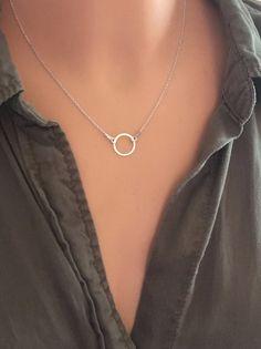 Kółko  -  naszyjnik srebrny  - LuxoroDesign - Naszyjniki srebrne