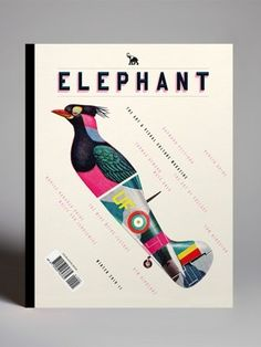 Elephant book cover _ type/grid/color.