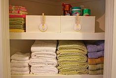 Organized linen closet My pantry closet needs this visit. Organized linen closet My pantry closet ne Linen Closet Organization, Storage Organization, Storage Ideas, Baby Room Storage, Baby Room Colors, Organizing Your Home, Organizing Ideas, Organizing Solutions, Organizing Labels