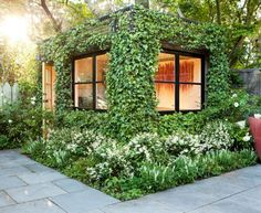 Vertical Gardens Modern Garden Shed Design - Backyard Studio, Garden Studio, Backyard Retreat, Outdoor Retreat, Covered Garden, Garden Office, Backyard Office, Cozy Backyard, Outdoor Office