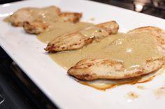Frango com molho mostarda - chicken with mustard sauce! Delicious!