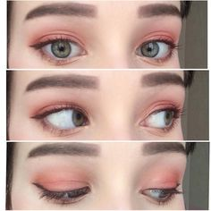 40 Ideas Makeup Eyeshadow Orange Eyebrows For 2019 Makeup Goals, Love Makeup, Makeup Inspo, Makeup Inspiration, Pretty Makeup, Makeup Ideas, Asian Makeup Prom, Korean Makeup, Eyeliner