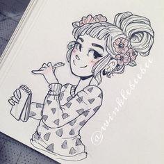 Flower Girl - Cartoons