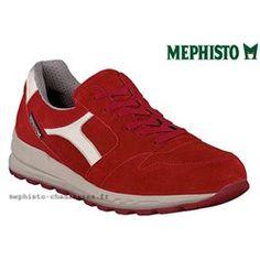 TRAIL Rouge velours , MEPHISTO  TRAIL  3638, Rouge velours pointure 7 (eur) 40,66 (fr)  Chaussures homme, plates, lacets, marche confort ville, semelle intérieure…