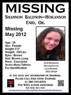 26 Best Oklahoma Missing & Unidentified Persons images in