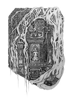 Ancient Temple by David Silberbauer, via Behance