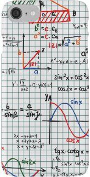 Mathematics Formulas Numbers iPhone 7 Cases