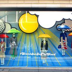 "FENWICK,Bond Street, London, UK, ""#Stand Out In The Cloud"", pinned by Ton van der Veer"