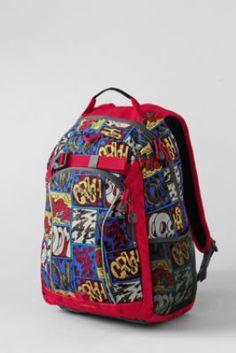 2bcab6c5bd Kids  Comic Strip ClassMate® Medium Backpack from Lands  End Cool Backpacks