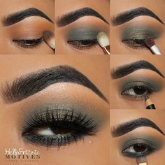 @hellofritzie is serving a sultry look with this step-by-step tutorial using #MotivesCosmetics!❤️ Here's what she did: -Apply motives eye base all over eye lid -Apply HEAT WAVE pressed shadow above the crease -Apply COMBAT pressed shadow all over eye lid -Apply MOON LIGHT (my party weapon) on the mid lid -Apply GREEN ENVY khol eyeliner on the waterline -Apply TRIPPED OUT pressed shadow on the lower lash line #mua #motd #makeuptutorial #eotd