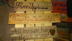 Different Pallet Signs