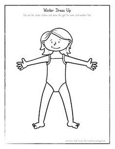 Sarah Pecorino Illustration: Printable: Winter Dress Up Girl