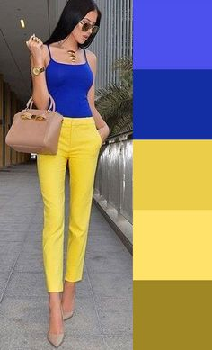 Fashion Tips For Teens .Fashion Tips For Teens Colour Combinations Fashion, Color Combinations For Clothes, Color Blocking Outfits, Fashion Colours, Colorful Fashion, Color Combos, Ropa Color Neon, Chic Outfits, Fashion Outfits