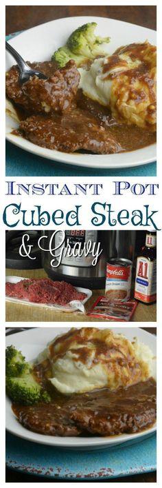 instant-pot-cubed-steak #Instantpot #OnepotMeals #Pressurecooking