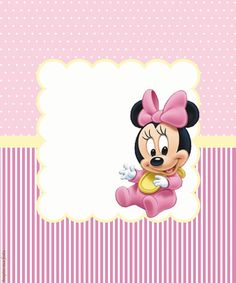 Minnie Baby – Kit festa infantil grátis para imprimir – Inspire sua Festa ® Festa Mickey Baby, Mickey E Minnie Mouse, Mini Mouse Baby Shower, Baby Mouse, Minnie Birthday, Birthday Cards, Happy Birthday, Winnie The Pooh Pictures, Mickey Mouse Wallpaper