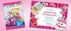 Shopkins are the hottest toys right now and quickly becoming the most popular party theme for girls. What is great about a Shopkins themed party is that there Shopkins Invitations, Party Invitations, Birthday Box, Birthday Parties, Christening, Party Time, Hottest Toys, Birthdays, Party Ideas