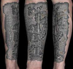 15 Impressive Biomechanical Tattoos [ Cyborg Tattoos ]