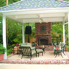Covered patio - like the concrete with brick around edges.