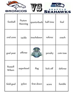 Super Bowl Pools Ideas to play football squares youll need to make a 1010 grid i recently found a nice poster for the game at the craft store but you can easily make one Heres A Fun Superbowl Bingo For The Little Ones To Play During The Big Game