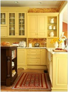 Cool Yellow Kitchen Yellow Kitchen And Kitchen Design Ideas For Your Adorable Kitchen With Attractive Displays In Every Point Of View 28 Kitchen Floor Tile Designs For Kitchens Ideas. Rustic Kitchen Design Ideas. Design Ideas For Small Kitchens. | offthewookie.com