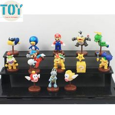 "Find More Action & Toy Figures Information about New 13 PCS Super Mario Bros World Koopa Bowser PVC mini Action Figure Toys Cartoon Animation Game Approx 1"" Free Tracking,High Quality toy ear,China animal necklace Suppliers, Cheap animal muppet toy from Toys in the Kingdom on Aliexpress.com"
