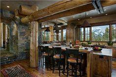 Sunny Country/Rustic Kitchen by Lynette Zambon & Carol Merica