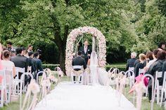 Outdoor Wedding Freie Trauung Blush Peach Creme Weiß