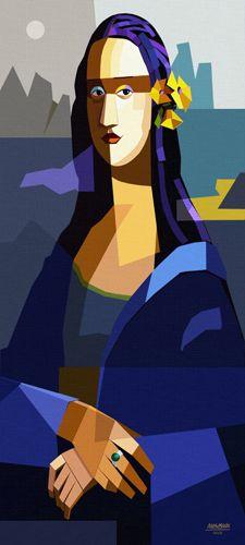 Mona Lisa cinescope by Manasses Andrade Mona Lisa Smile, La Madone, Mona Lisa Parody, American Gothic, Plastic Art, Arte Pop, Italian Artist, Art Plastique, Art Projects