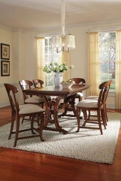 7-pc 	Margaux Rectagular Counter Height Trestle Table Set