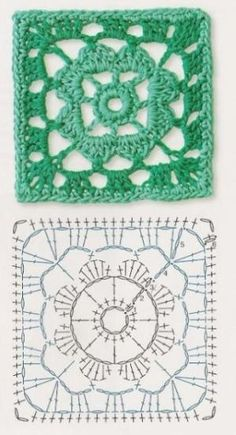 Transcendent Crochet a Solid Granny Square Ideas. Inconceivable Crochet a Solid Granny Square Ideas. Crochet Motif Patterns, Granny Square Crochet Pattern, Crochet Diagram, Crochet Chart, Crochet Squares, Crochet Granny, Crochet Stitches, Knit Crochet, Knitting Patterns