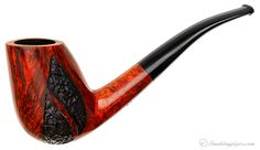 Johs Partially Rusticated Bent Tulip Pipes at Smoking Pipes .com