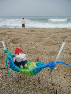 Beach Gnome, love his swimsuit and hammock. From Mochimochi Land