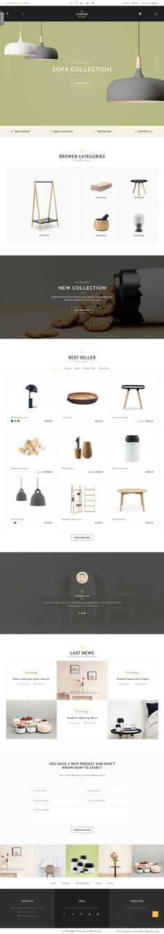 Avanter is a fully responsive #Magento Theme with a clean, minimalist and…