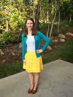 LaForce Be With You - What I Wore: Yellow and Teal