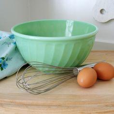 Fire-King vintage jadeite mixing bowl