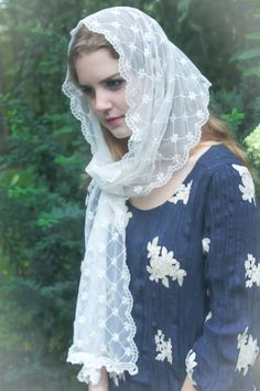 Evintage Veils Our Lady Ivory Victorian Lace by EvintageVeils