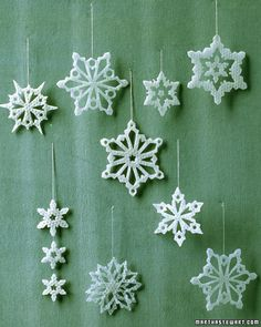 Wax Snowflakes #handmade #tree #ornament