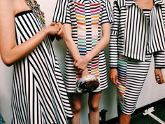 in love with these stripes from Tanya Taylor #NYFW #Bbbackstage