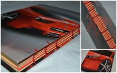 Ferrari theme - coptic stich journals made from colorful paper
