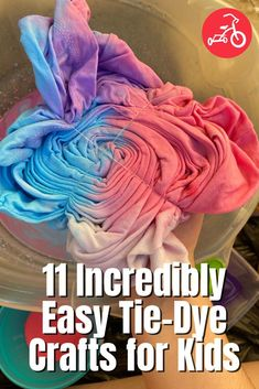 11 Incredibly Easy Tie-Dye Crafts for Kids Diy Kid Crafts For Boys, Projects For Kids, Diy For Kids, Tie Dye Kit, Tie Dye Crafts, How To Tie Dye, Tie Dye Patterns, Craft Activities, Easy Diy