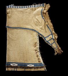 "Early 1830s Sioux dress with both quill work and bead work. Taken from ""Identity by Design"" which is an exhibit at the National Museum of the American Indian."