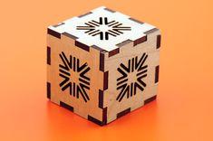 Laser cut wood puzzle box