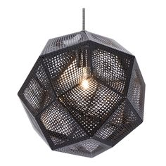 Tom Dixon Etch Shade Black Pendant Light