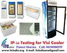 Electrical Safety Testing Lab ITC India: IP 24 Testing for Visi Cooler 220L, 320L, 425L
